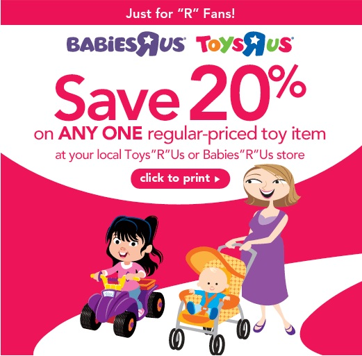 Toys R Us 20 Off : Toys r us printable coupon for off any regular priced