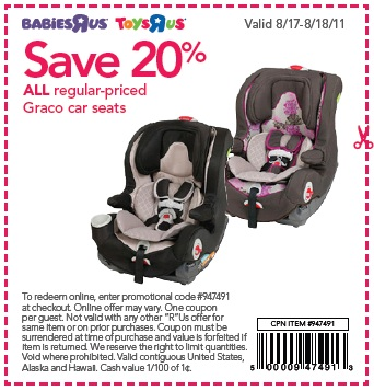 Toys R Us Promo Code Car Seats