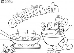 Free Chanukah Coloring Pages From CookKosher.com | Kollel ...