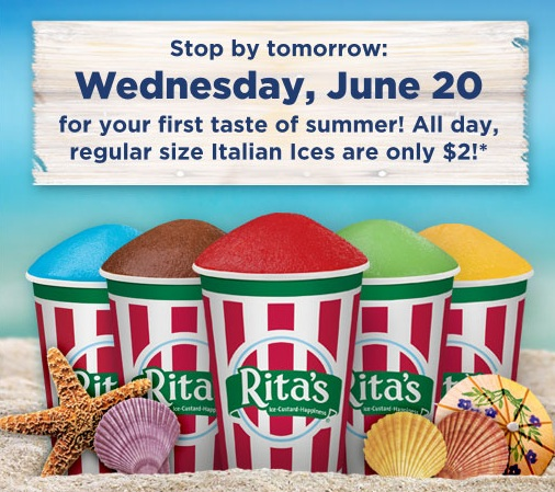Rita S Ice 2 Offer For The First Day Of Summer Kollel