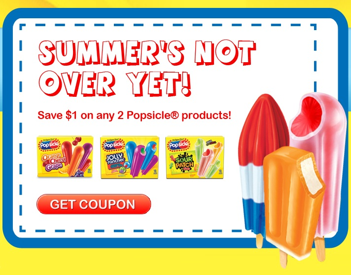 Printable Coupon 1 Off 2 Popsicle Products Kollel Budget