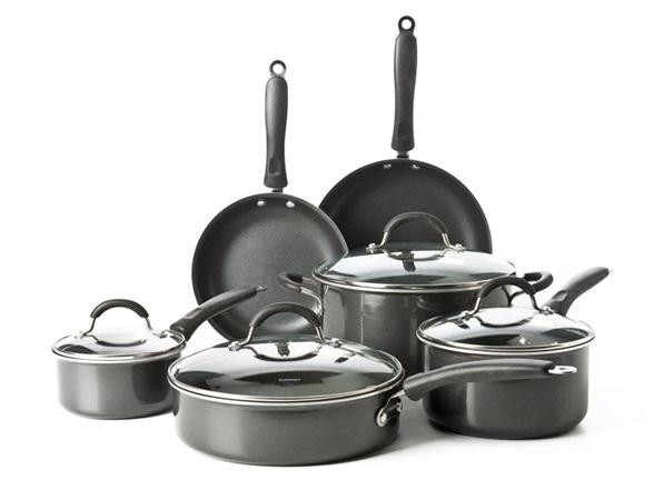 Cuisinart Kitchen Pro 10 Piece Black Aluminum Non Stick Cookware Set Only 74 99 Shipped Kollel Budget