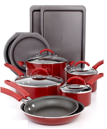 Macys 14 Piece Red Kitchenaid Cookware Only 84 99