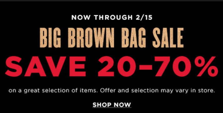 1524361d45d1 Bloomingdale s Big Brown Bag Sale – Up To 70% Off + Free Shipping ...