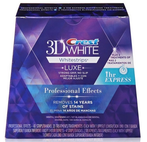 Crest 3d White Luxe Whitestrips Professional Effects 20 Treatments