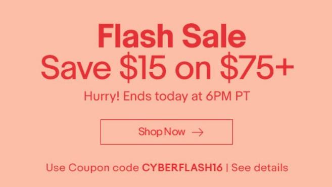 Ebay $15 off coupon code