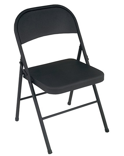 Amazon Prime Day Deal Cosco All Steel Folding Chair Black