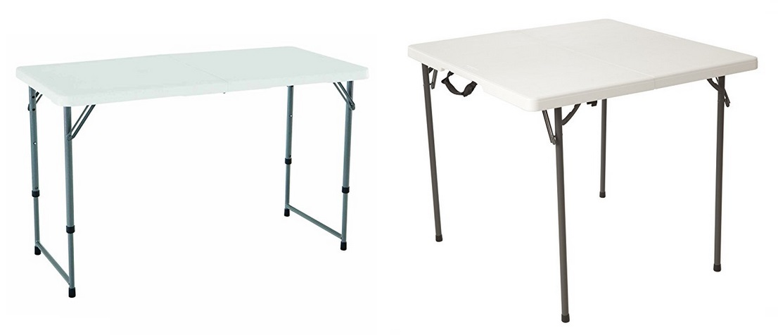 Amazon Has The Lifetime 4428 Height Adjustable Folding Utility Table  Inches White Granite Marked Down To Only 26 90 Free Shipping