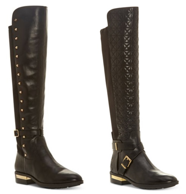 6c85a9a4489 Macy s has the Vince Camuto Women s Pelda Studded Riding Boots marked down  to only  89.50 + Free shipping