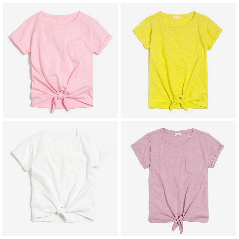 J Crew Factory Girl S Tie Front T Shirt Only 11 Kollel
