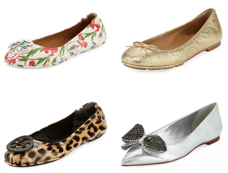 9bbba1a88be9 Neiman Marcus has the Tory Burch Women s Flats marked down from only  111 +  Free shipping! Tory Burch Minnie Floral Travel Logo Ballerina ...
