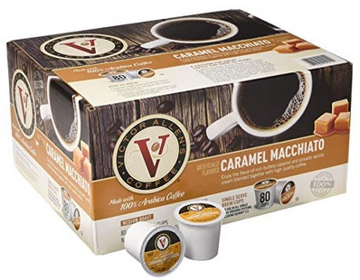 Amazon Victor Allen S Coffee K Cups Caramel Macchiato Single Serve Medium Roast Coffee 80 Count Keurig 2 0 Brewer Compatible Only 16 99 18 99 Free Shipping With Subscribe Save Kollel Budget