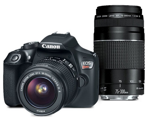 Canon Refurbished EOS Rebel T6 Camera with 18-55 and 75