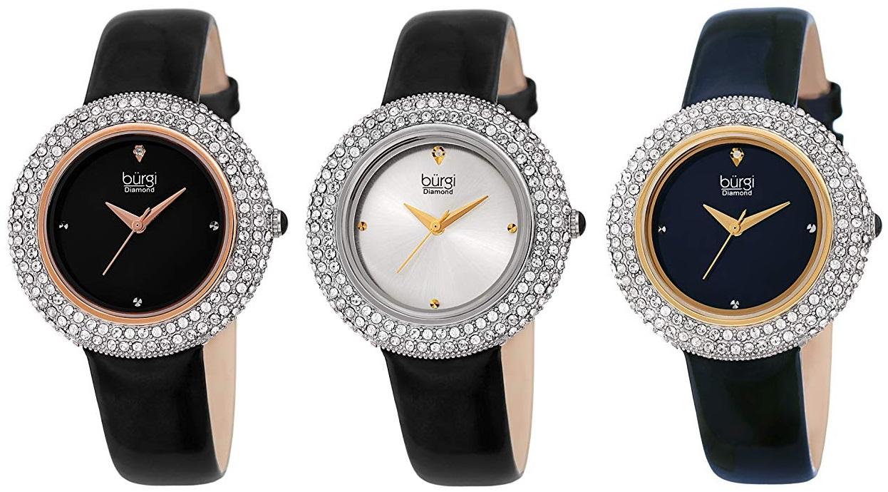 2b75648790 Amazon Lightning Deal: Burgi Women's Swarovski Crystal & Diamond ...