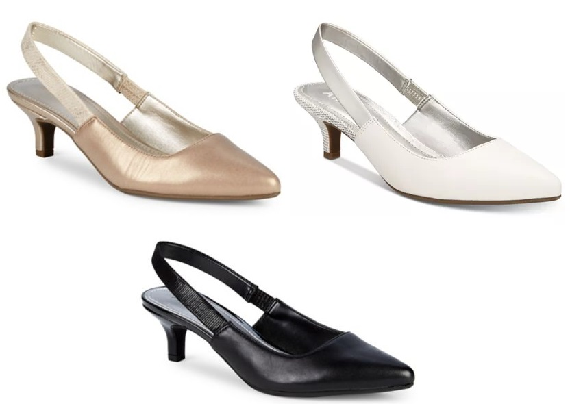 2b6fd4635e25 Anne Klein Aileen Leather Slingback Heels Only  51 From Lord   Taylor