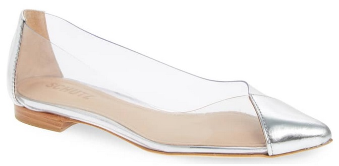 bd60a43f683 Schutz Clearly Pointy Toe Womens Flats Only  57.98 + Free Shipping