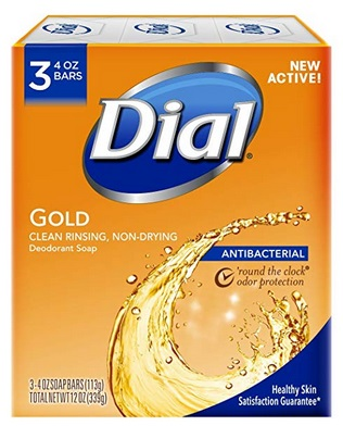 Dial Antibacterial Deodorant Soap, Gold, 3 Count Only $1 61
