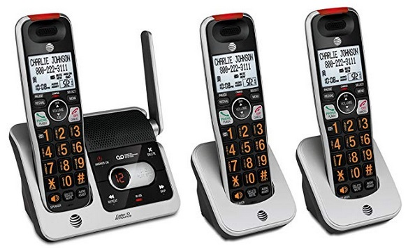 AT&T CRL82312 3-Handset Expandable Cordless Phone with